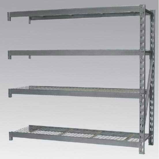 Sealey AP6572E - Heavy-Duty Racking Extension Pack with 4 Mesh Shelves 800kg Capacity Per Level