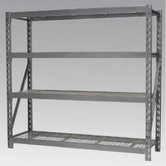 Sealey AP6572 - Heavy-Duty Racking Unit with 4 Mesh Shelves 800kg Capacity Per Level