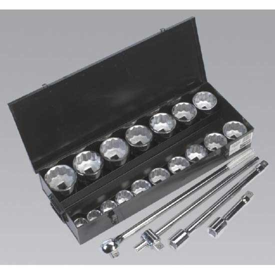 "Sealey S0768 - Socket Set 21pc 1""Sq Drive Metric"