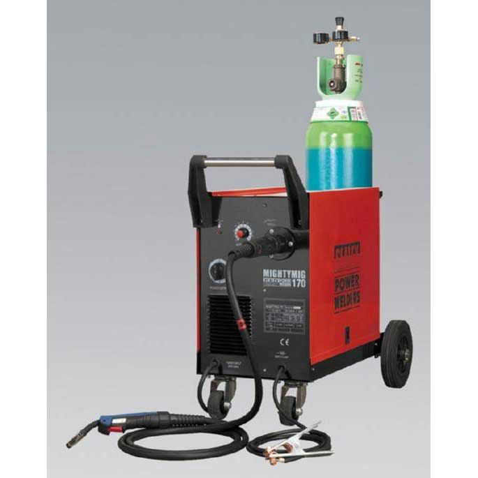 Sealey MIGHTYMIG170 - Professional Gas/No-Gas MIG Welder 170Amp with Euro Torch