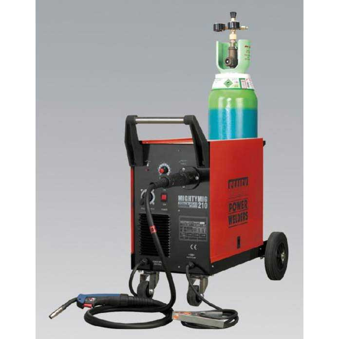 Sealey MIGHTYMIG210 - Professional Gas/No-Gas MIG Welder 210Amp with Euro Torch
