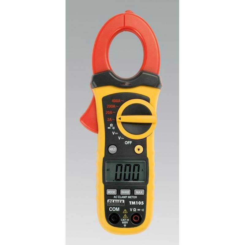 Professional Auto Ranging Digital Clamp Meter NCVD - 6 Function