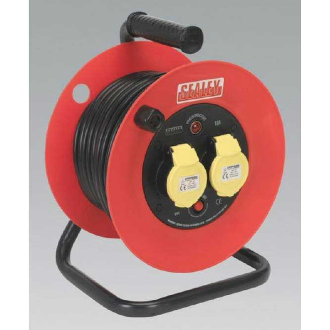 Cable Reel 25mtr 2 x 110V 1.5mm² Heavy-Duty Thermal Trip