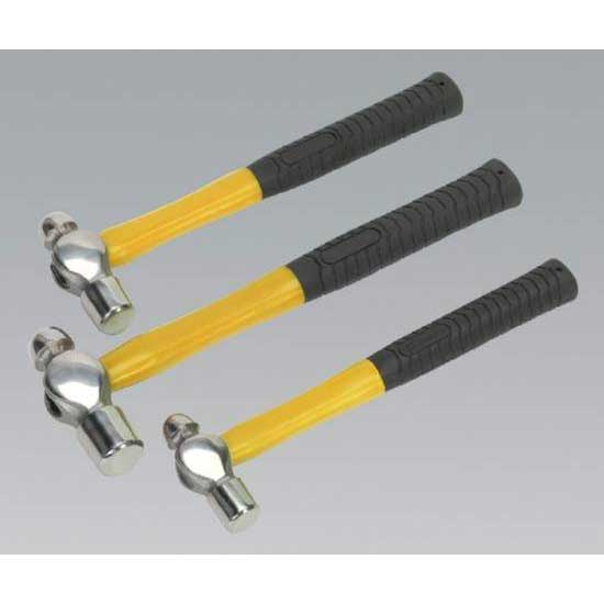 Sealey AK2031 - Ball Pein Hammer Set 3pc Fibreglass Shaft