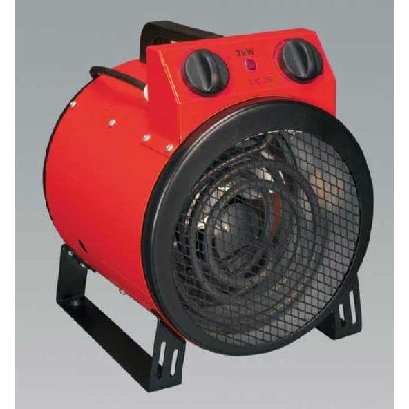 Sealey Eh3001 Industrial Fan Heater 3kw 3 Heat Settings