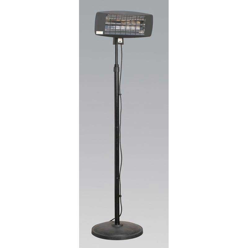 Sealey IFSH2003 - Infrared Quartz Patio Heater 2000W/230V with Telescopic Floor Stand
