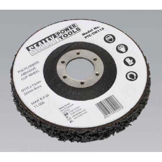 Sealey PTC/CW115 - Polycarbide Cup Wheel 115 x 13 x 22mm