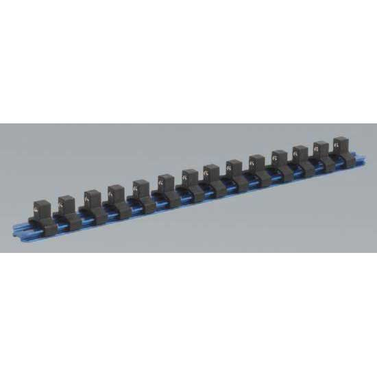 Sealey SR3814 - Socket Retaining Rail with 14 Clips Aluminium 3/8''Sq Drive