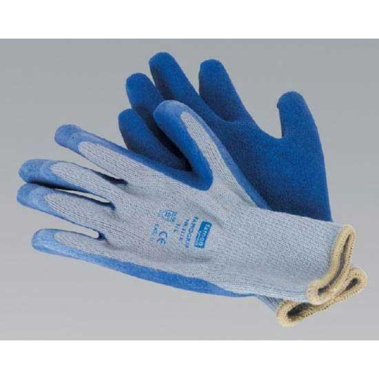 Sealey SSP48XL - Latex Knitted Wrist Gloves - X-Large