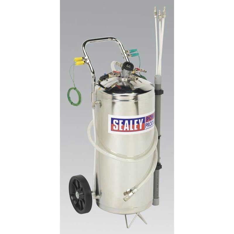 Sealey TP200S - Air Operated Fuel Tank Drainer - Stainless 40ltr