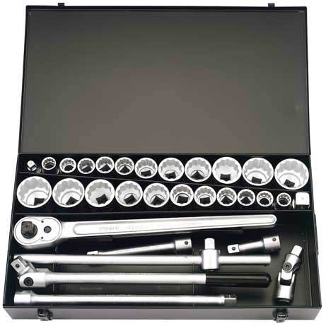 31 Piece 3/4'' Square Drive Elora Metric & Imperial Socket Set