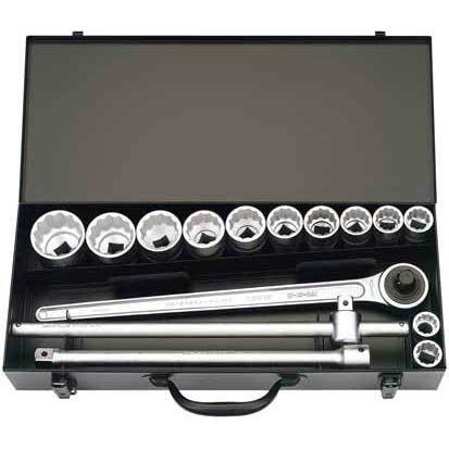 15 Piece 3/4'' Square Drive Elora Imperial Socket Set