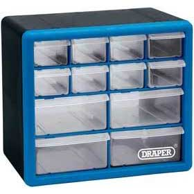 Draper 12 Drawer Storage Cabinet/Organiser - 260 X 160 X 230mm