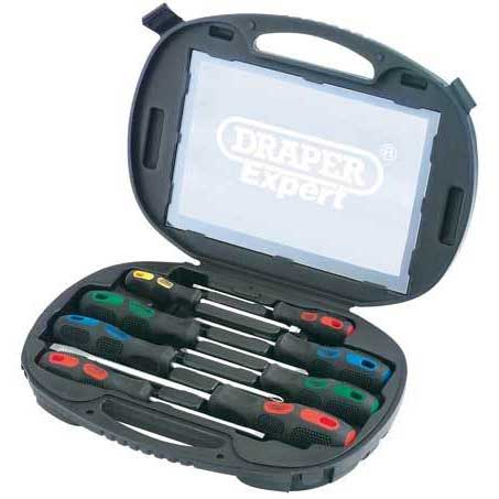 Draper Expert 8 Piece Screwdriver Set in  Case
