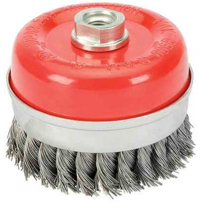Draper Expert 100mm X M14 Twist Knot Wire Cup Brush