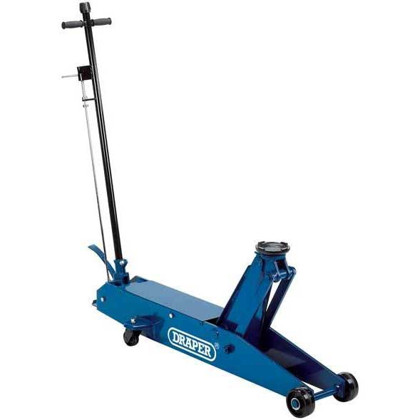 Draper 5 Tonne Long Chassis Hydraulic Trolley Jack with 'Quick Lift' Facility