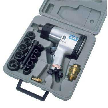 Draper 15 Piece 1/2'' Square Drive Heavy Duty Air Impact Wrench Kit
