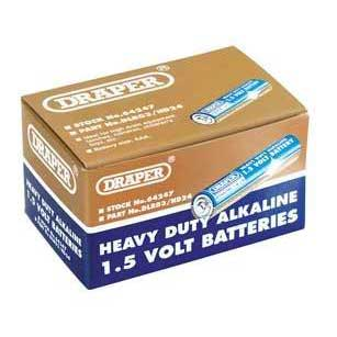 Draper Trade Pack of 24 AAA-Size Heavy Duty Alkaline Batteries