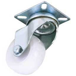 Draper 100mm Dia. Swivel Plate Fixing Nylon Wheel - S.W.L. 125Kg