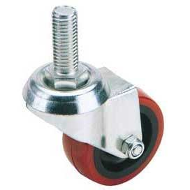 Draper 100mm Dia. Swivel Bolt Fixing Polyurethane Wheel - S.W.L. 125Kg