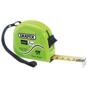 Draper 5m/16ft Easy Find Measuring Tape