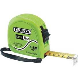 Draper 7.5m/25ft Easy Find Measuring Tape