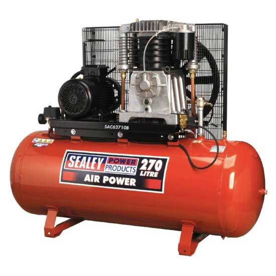Compressor 270ltr Belt Drive 10hp 3ph 2-Stage with Cast Cylinders