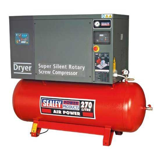 Screw Compressor 270ltr 10hp 3ph Low Noise with Dryer