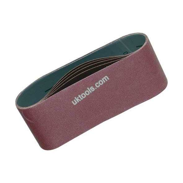 Makita P-37166 SANDING BELTS 76mm x 457mm 40/80/120 Grit (Mixed 3 Pack)