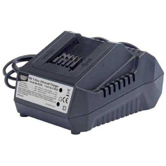 Draper Expert 18V Universal Battery Charger for Li-ion and Ni-Cd Battery Packs