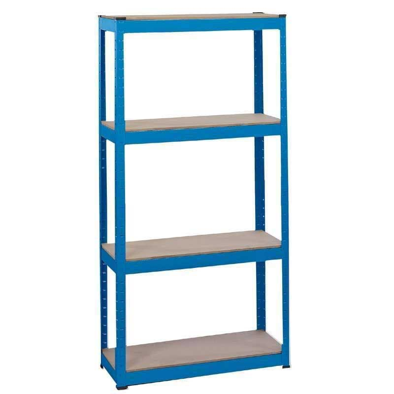 Draper Steel Shelving Unit - Four Shelves (L760 x W200 x H1520mm)