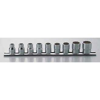 Koken RS3405A/13 13 Piece 3/8''Drive 12-Point D/Hex Socket Set