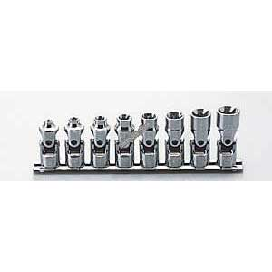Koken RS3440T/8 3/8''Drive Female E-Torx Universal Joint 8pc Socket Set (E Type)