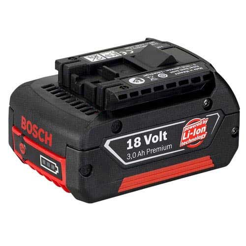 Bosch 2607336236 18 Volt Slide-In Lithium ion Battery Pack 3Ah with Charge Level Indicator