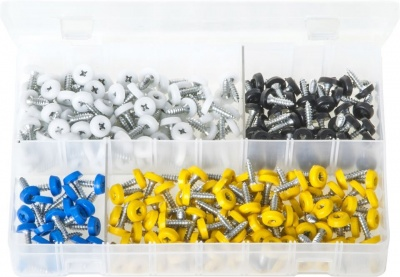 Number Plate Fasteners with Plastic Head - Short