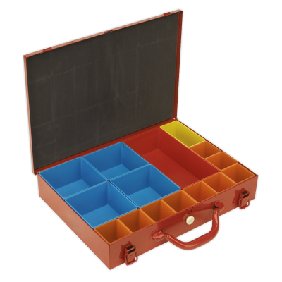 Sealey APMC15 - Metal Case with 15 Storage Bins