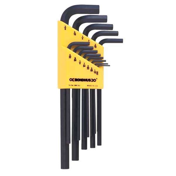 Bondhus 12132 HLX8L - 8pc Hex Key Set - 0.050-5/32''