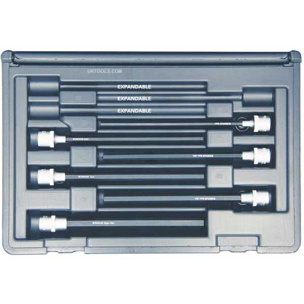 Bondhus 30646 PHX6M/S-6 ProHold METRIC HEX 6pc Socket Bit Set 4-10mm - 6'' long