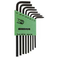 Bondhus 31732 - Torx 8pc T6-T25 Key Set Short