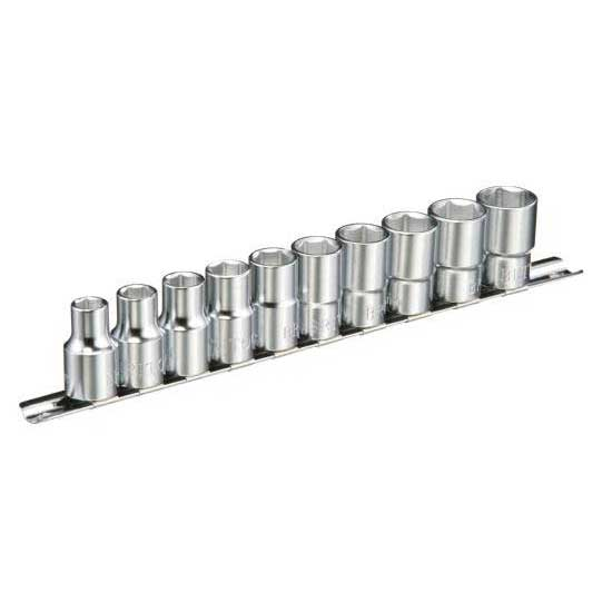 10 Piece 1/2'' Square Drive Metric Socket Set