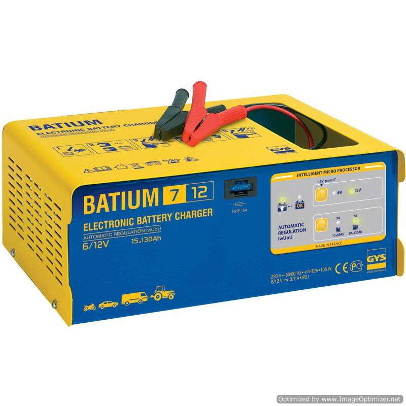 GYS Professional Battery Charger 130Ah BATIUM 7/12