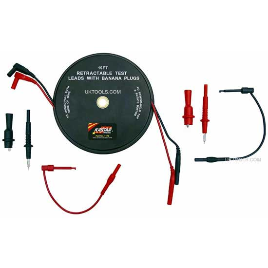 Retractable Test Lead Set 7pc