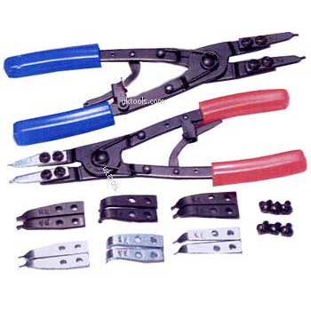Circlip Plier Set Interchangeable Ratchet Type