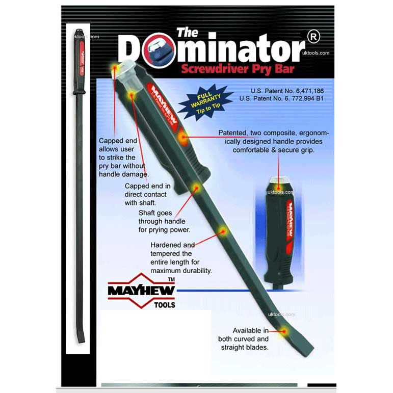 Dominator® Pry Bar 12''(inch) Long