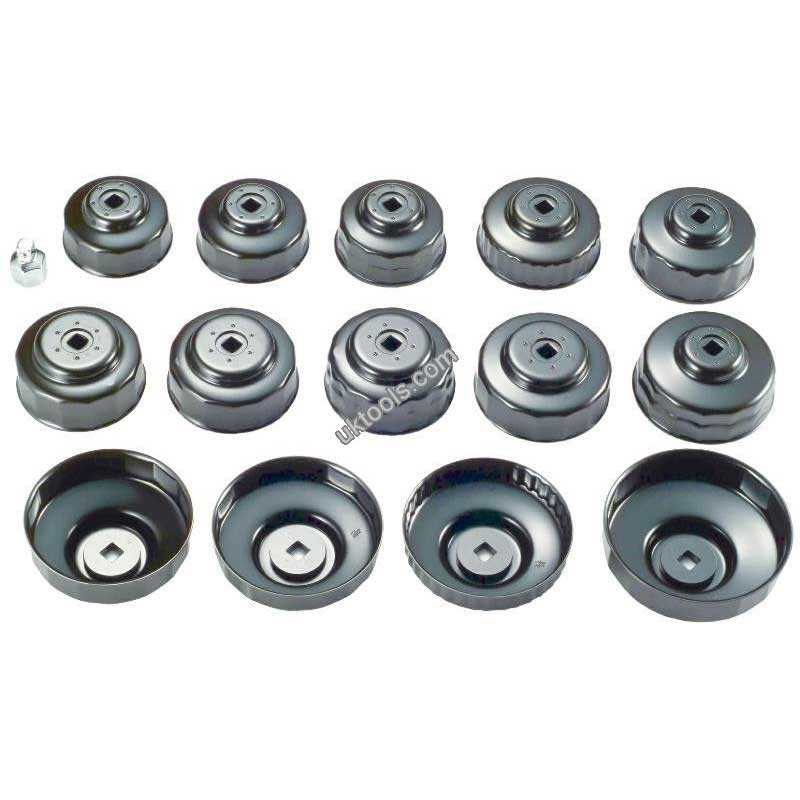 Oil Filter Cup Wrench Set 15pc