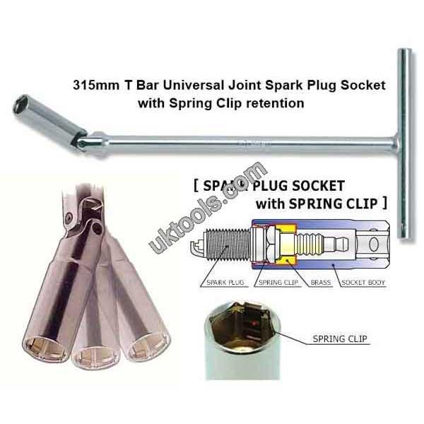 Koken T Bar Spark Plug Socket 18mm A//F Universal Joint