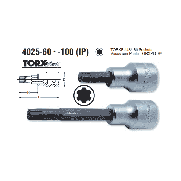 Koken 4025.100-70IP 1/2'' DRIVE LONG (100mm) TORX PLUS T70