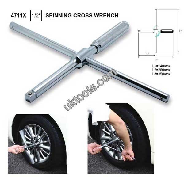 Koken 4711X 1/2'' SD SPINNING CROSS WRENCH FOR WHEEL MOUNTING