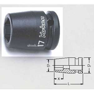 Koken 14400M-30 30mm 1/2''Drive Standard 6point(hex) IMPACT SOCKET