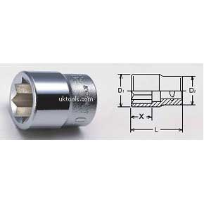 Koken 4109M-23 23mm 1/2''Drive 8 POINT SOCKET